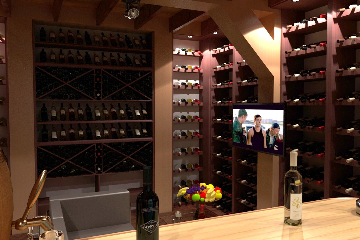 Wine Cellar in 3d max vray 2.0 image