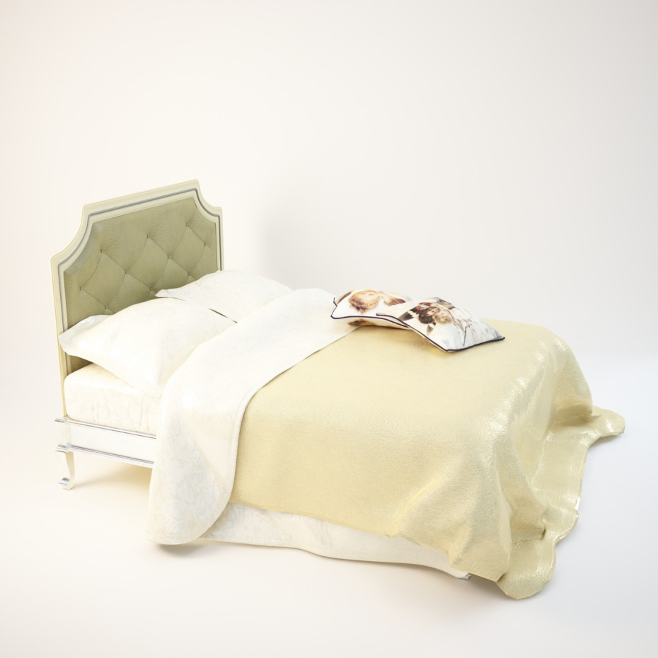 класична велике ліжко в 3d max vray зображення