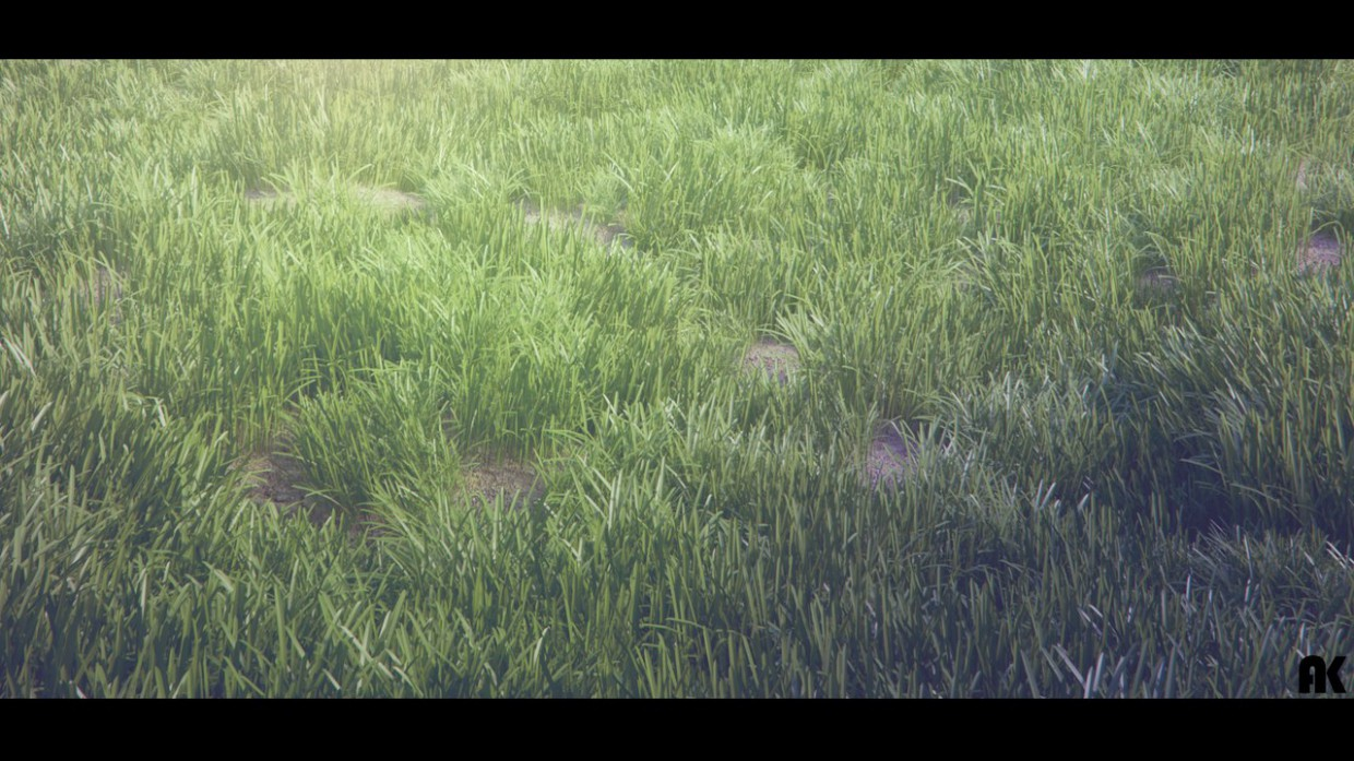 Grass in 3d max vray image