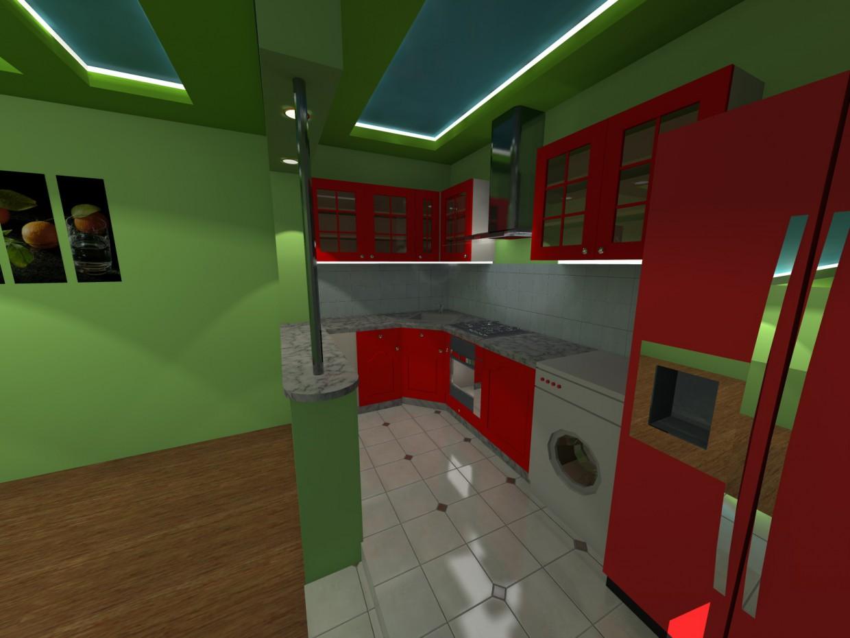 3d визуализация проекта Кухня в 3d max, рендер vray 2.5 от Sharifjon Olimov