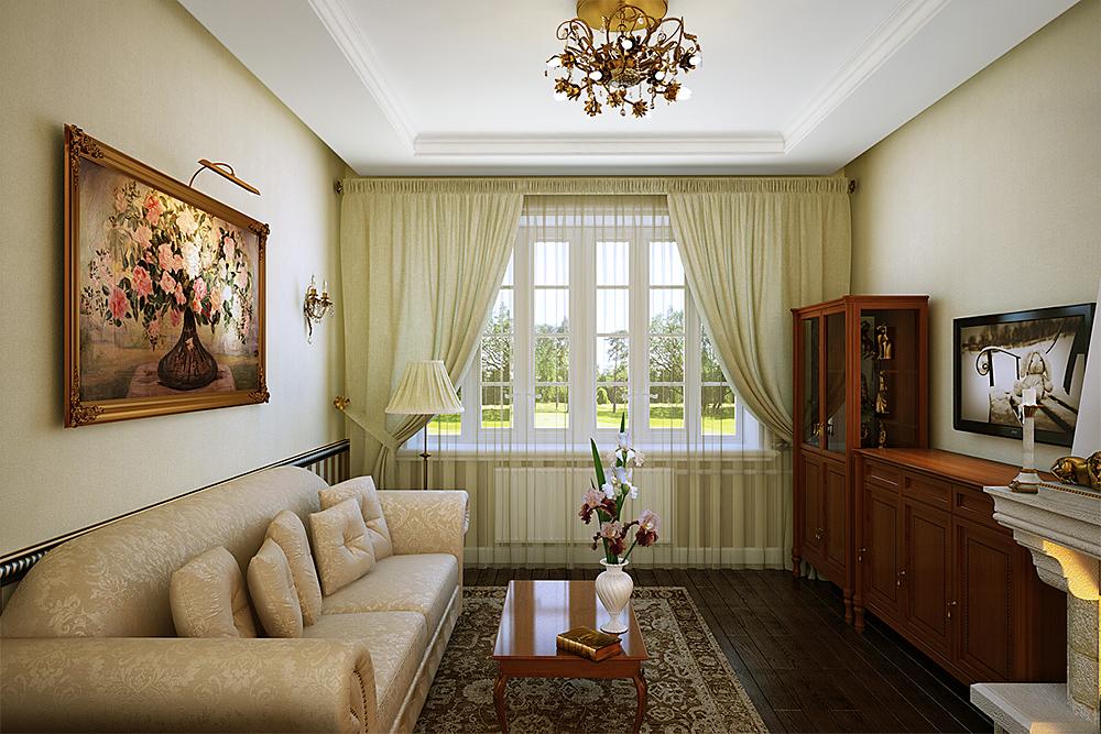 living room in Blender cycles render image