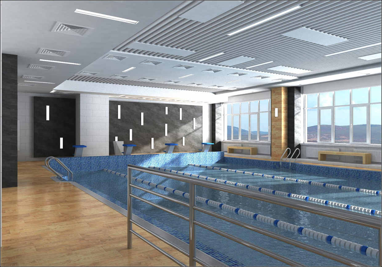 The project of interior design of the pool in Chernihiv in 3d max vray 1.5 image