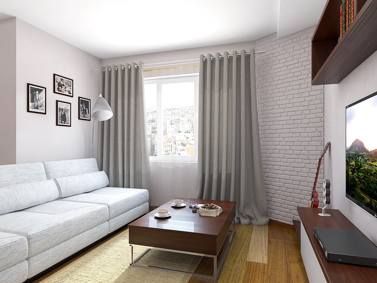 Living in 3d max vray image