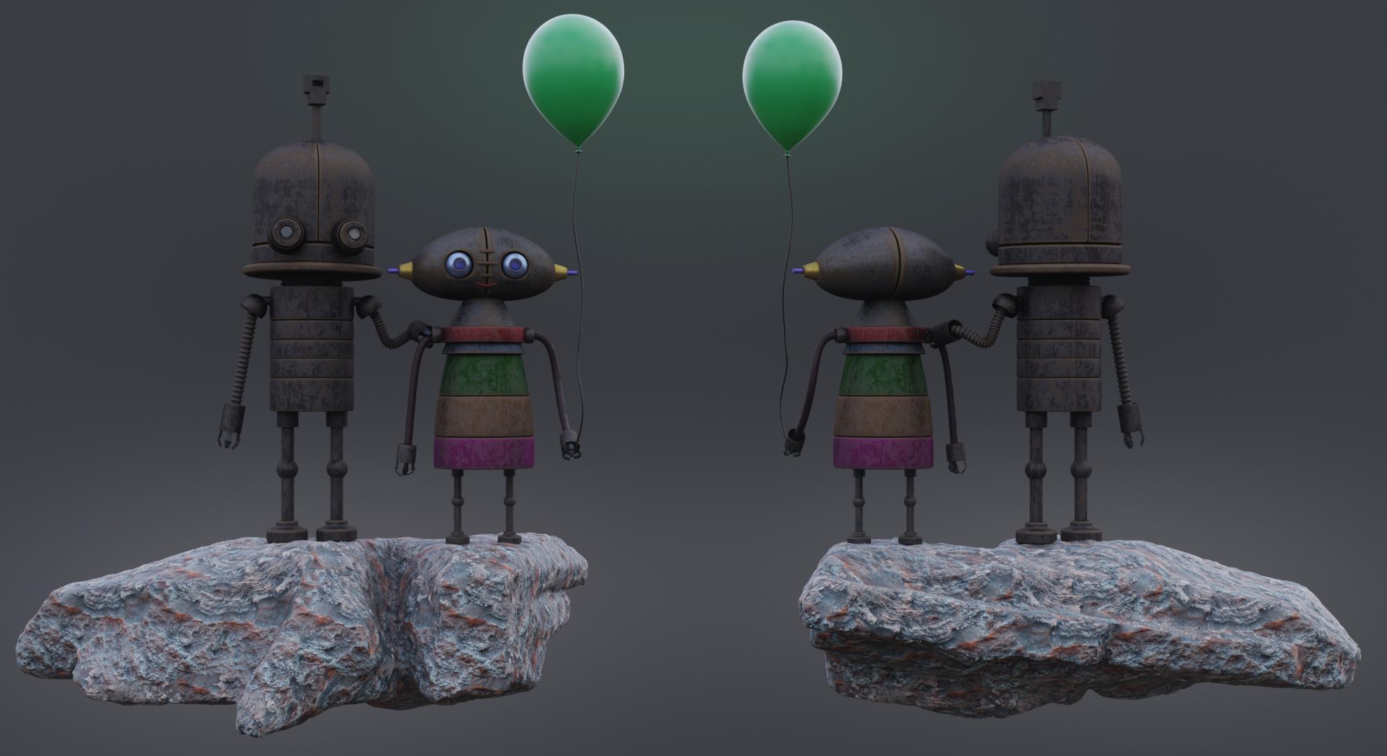 """Robolanet"" in Blender cycles render image"
