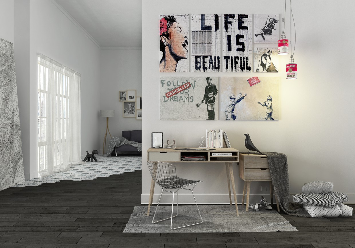 Banksy mood... in Cinema 4d vray image