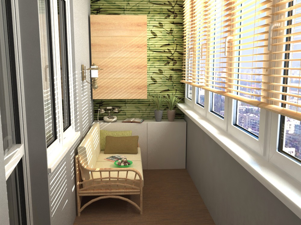 Eco in ein Studio-apartment in 3d max vray Bild