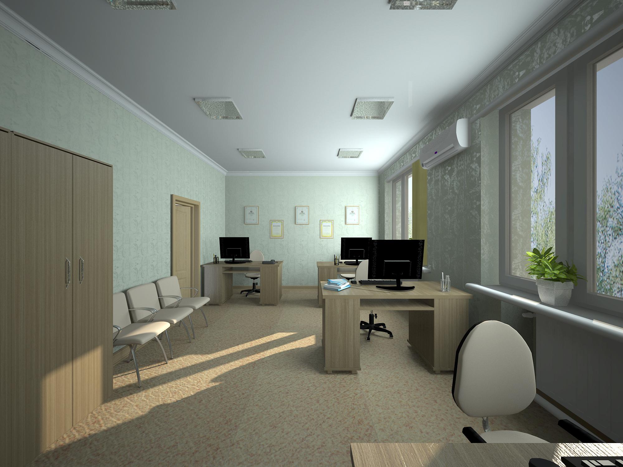 स्लावयस्क का कार्यालय 3d max vray 3.0 में प्रस्तुत छवि