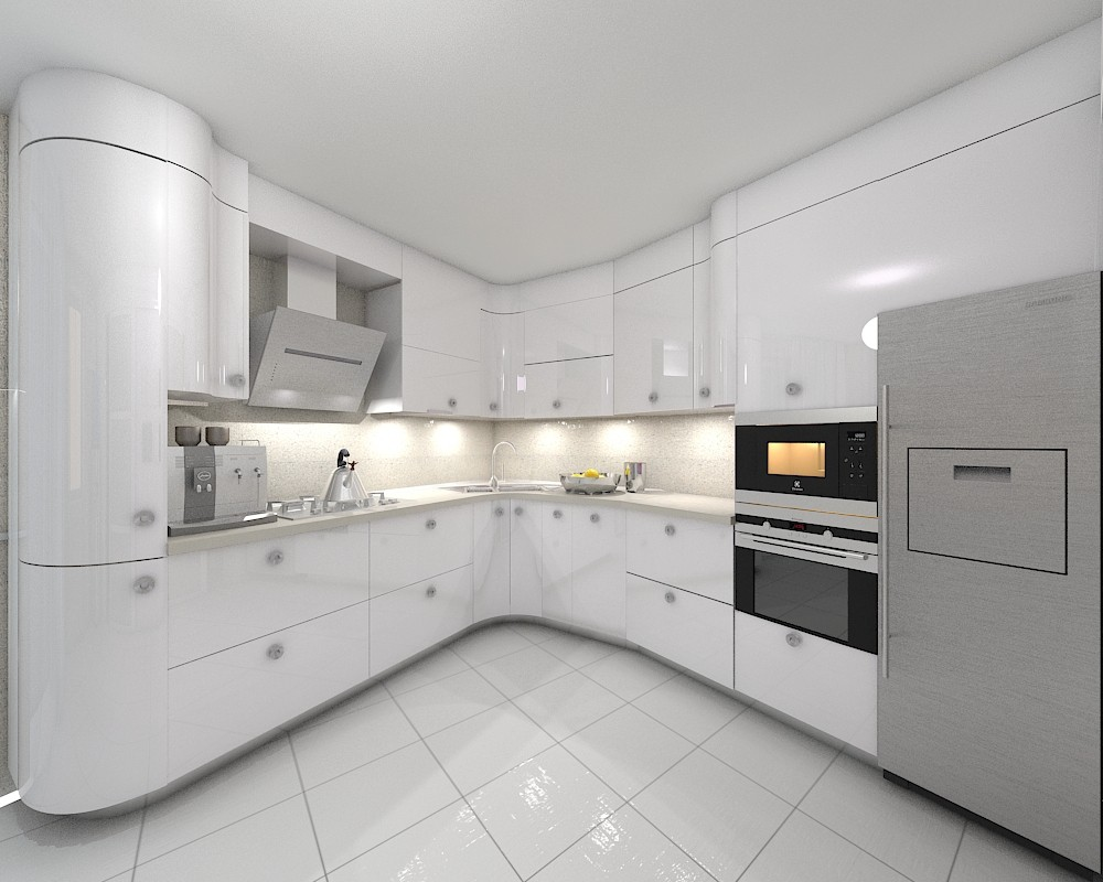 imagen de  Cocina-comedor  en  3d max   vray