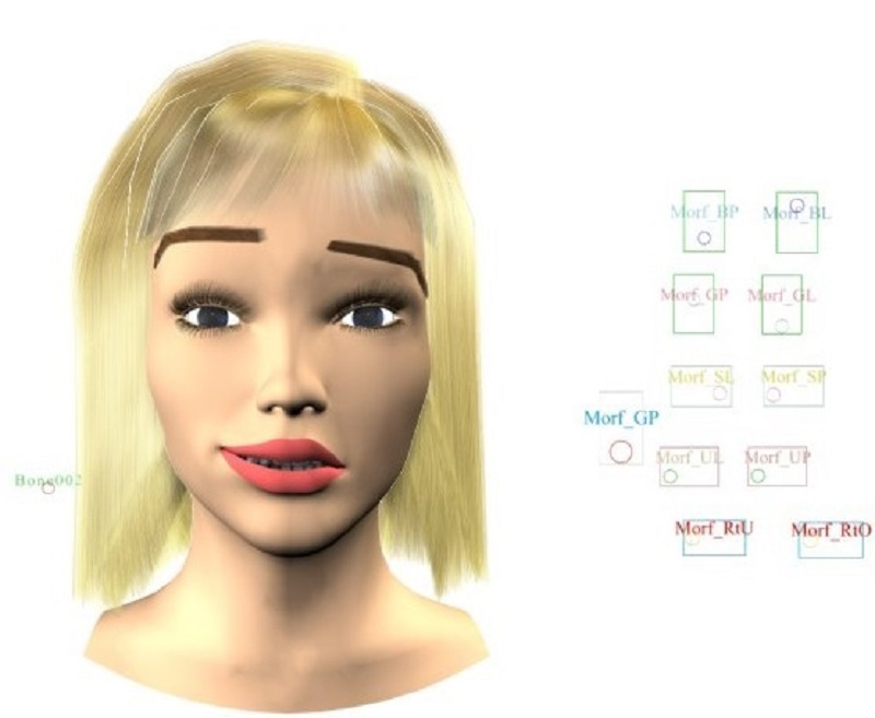 Facial expression in 3d max vray 1.5 image
