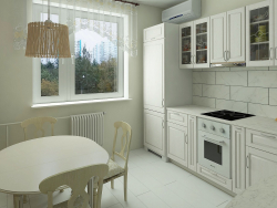 Kitchen in a standard apartment