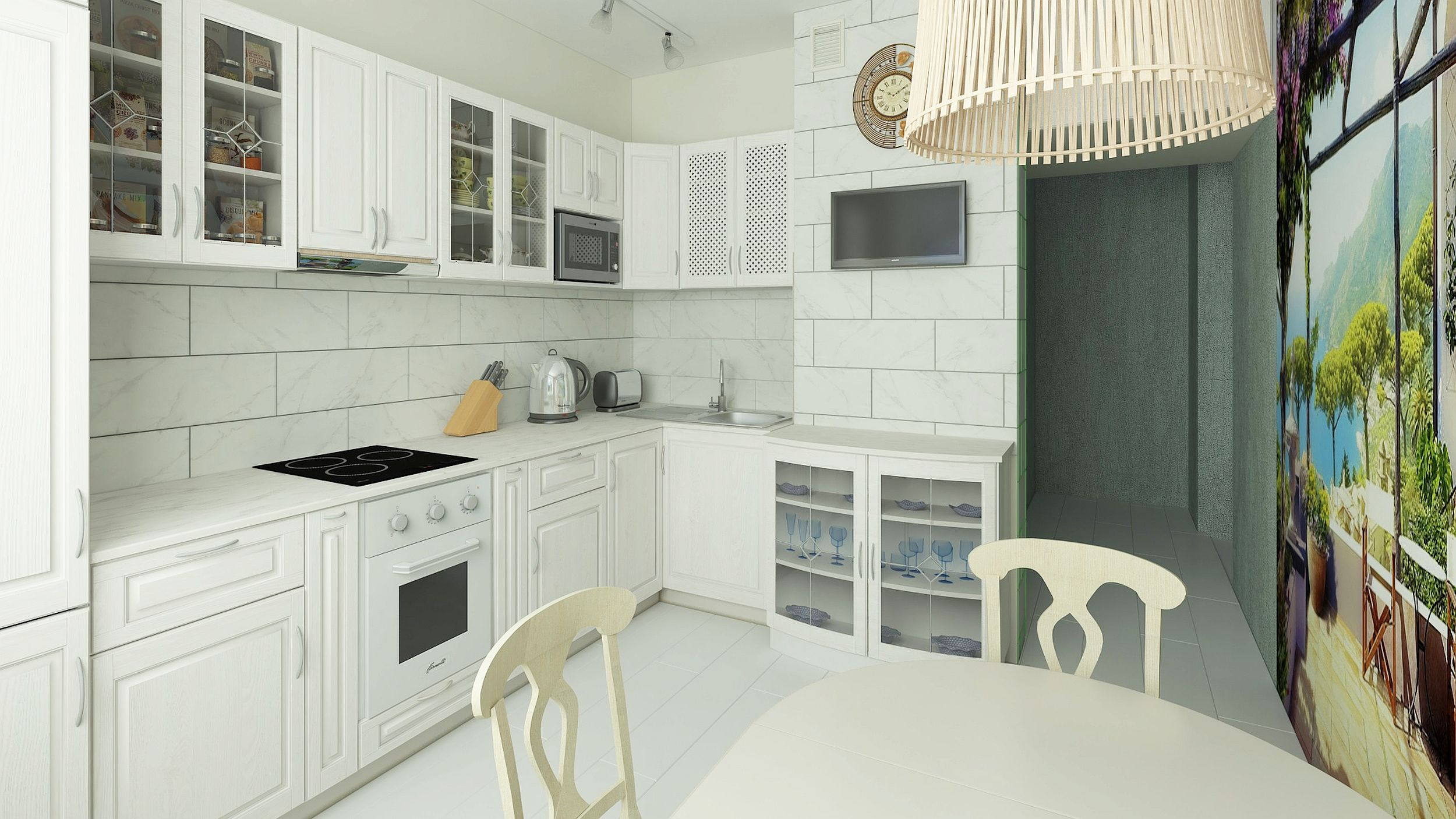 Kitchen in a standard apartment in 3d max vray 3.0 image