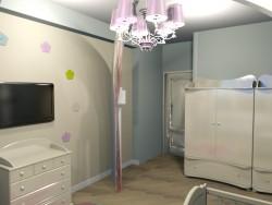 Çocuk odası için yeni doğan bebek