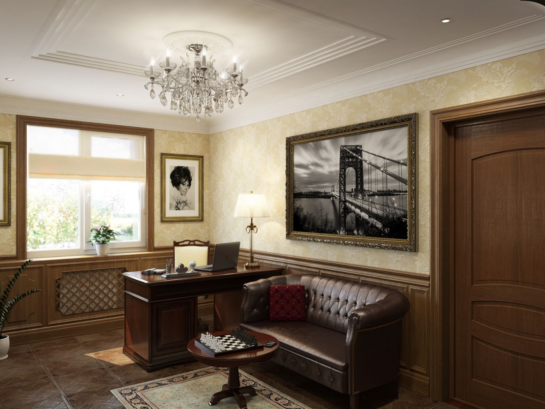 Кабінет в приватному будинку в 3d max vray зображення