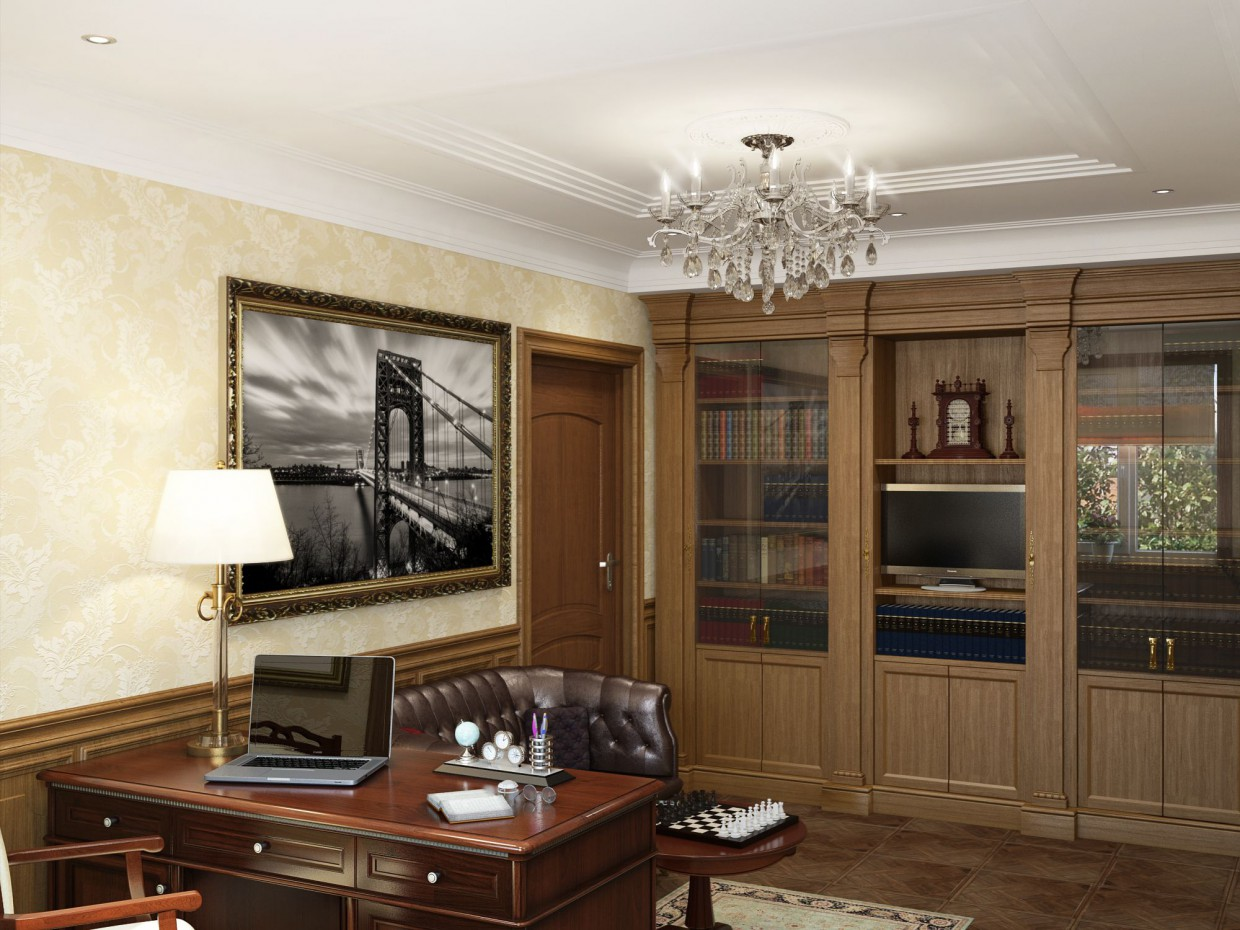 Room in private house in 3d max vray image