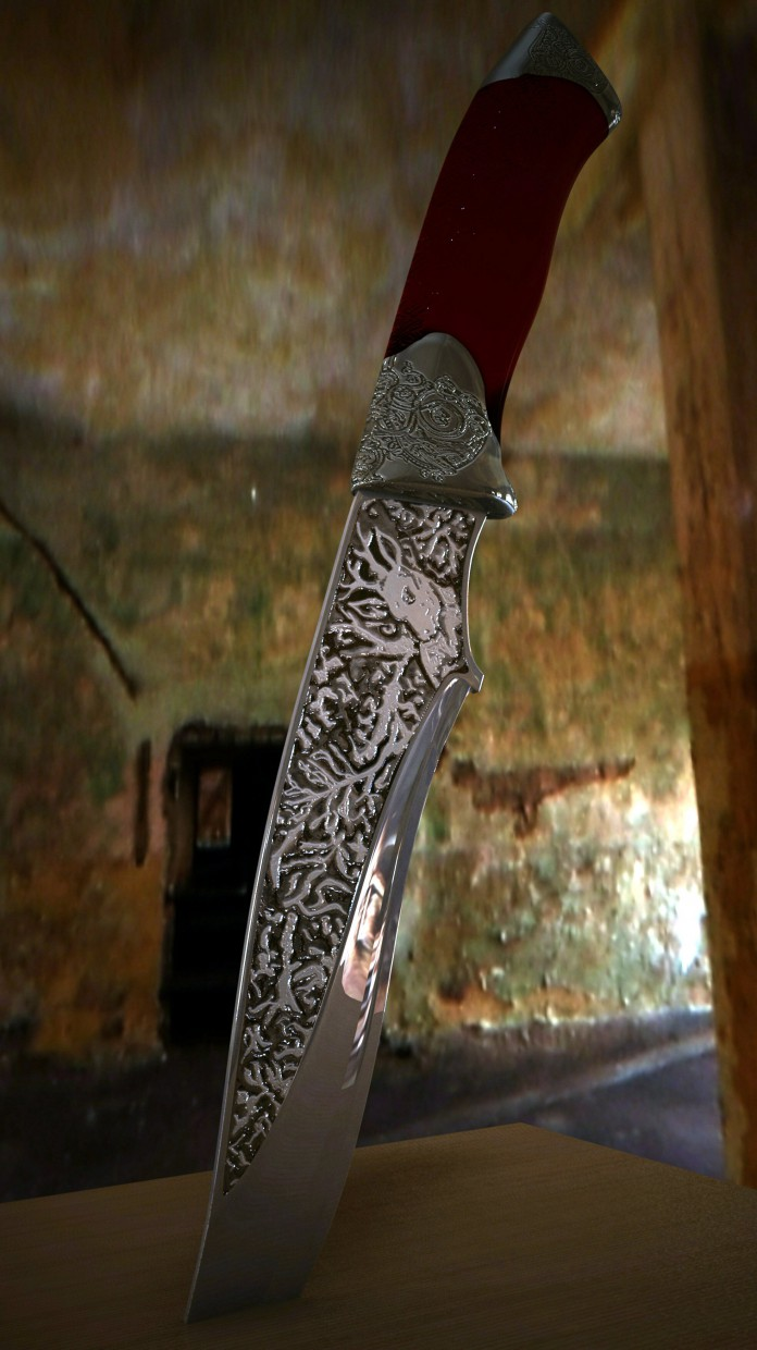 HUNTING KNIFE in 3d max vray image