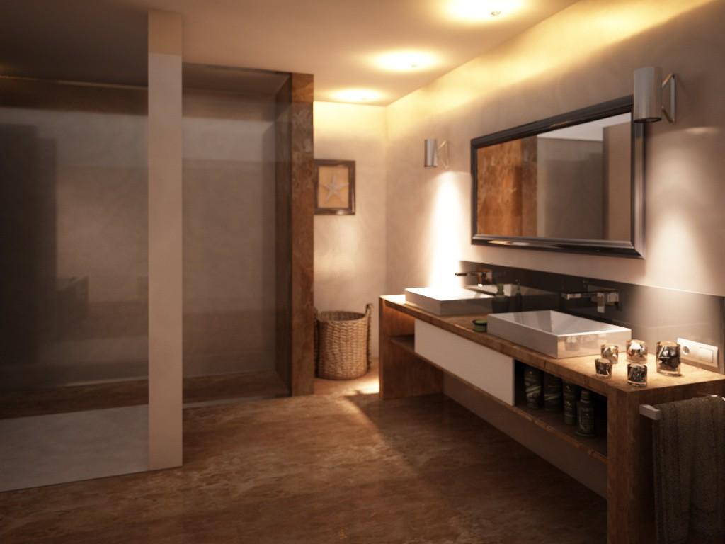 Bathroom Roskamen in Cinema 4d vray image