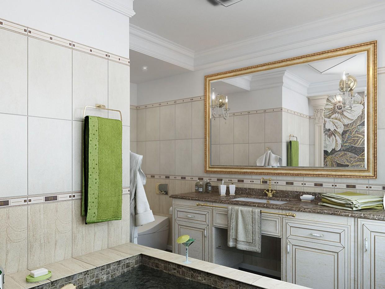 visualización 3D del proyecto en el Baño en casa privada 3d max render vray serjam