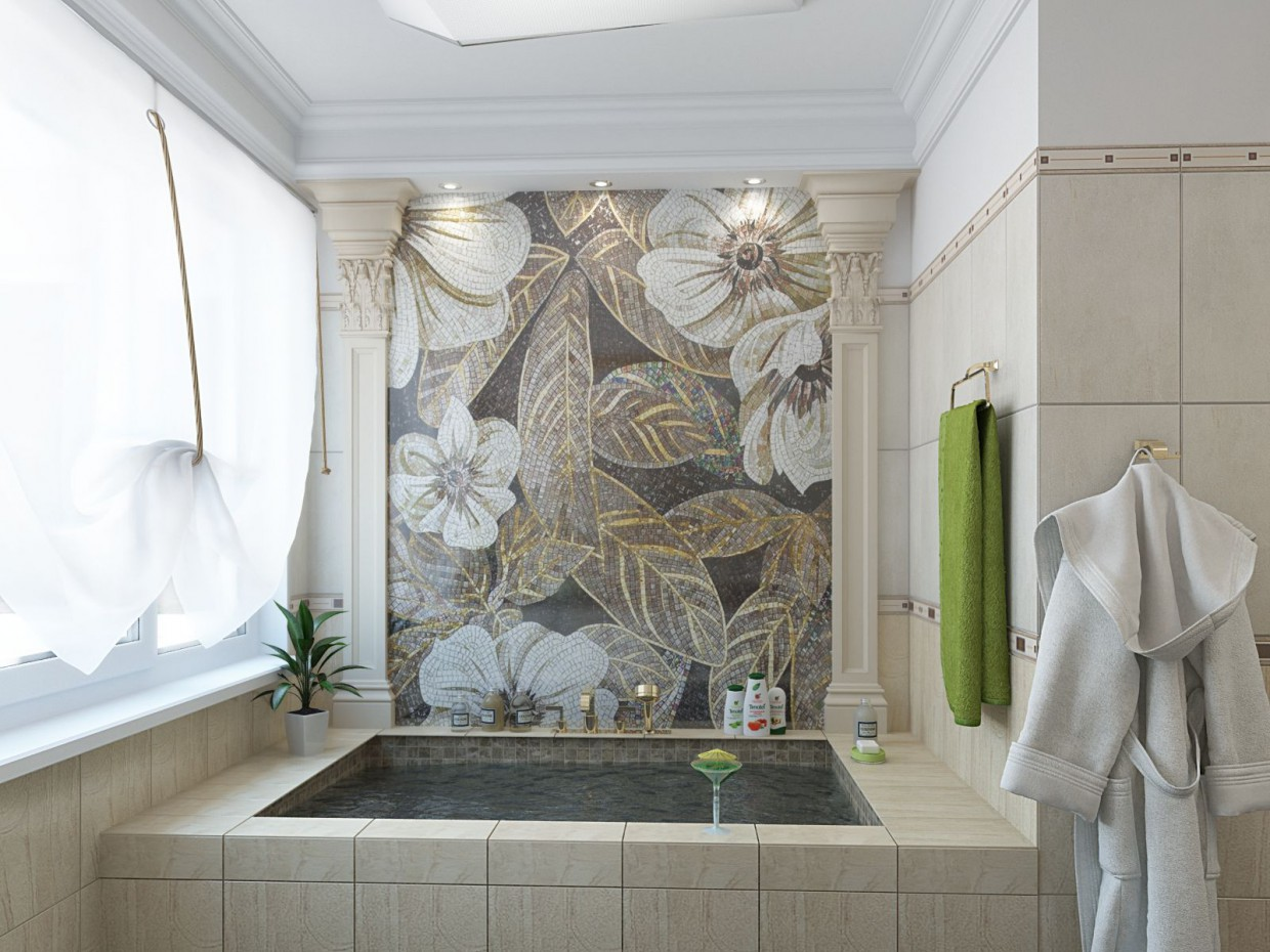 Bathroom in private house in 3d max vray image