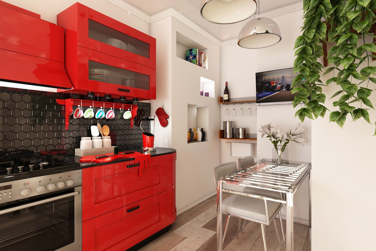 3d visualization of the project in the Kitchen 3d max, render vray 3.0 of Мамецкий Богдан