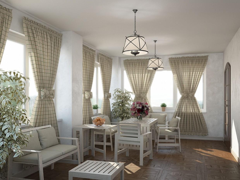 Veranda in 3d max vray image