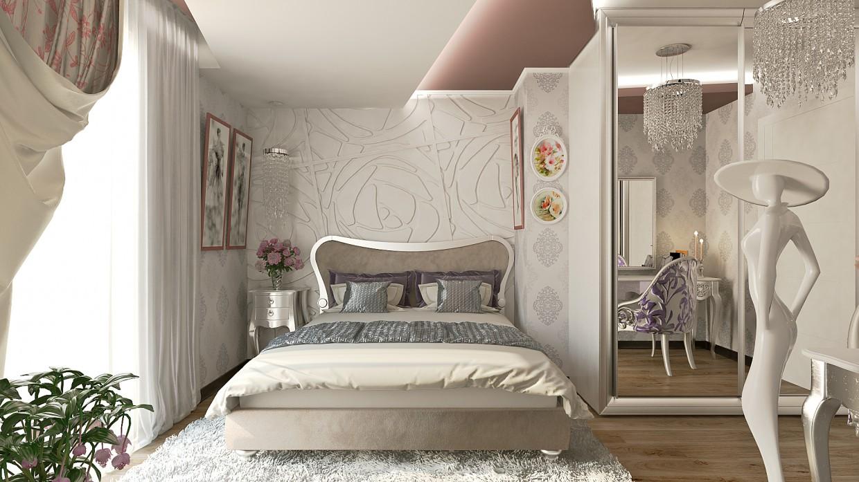 Cпальня в 3d max vray зображення