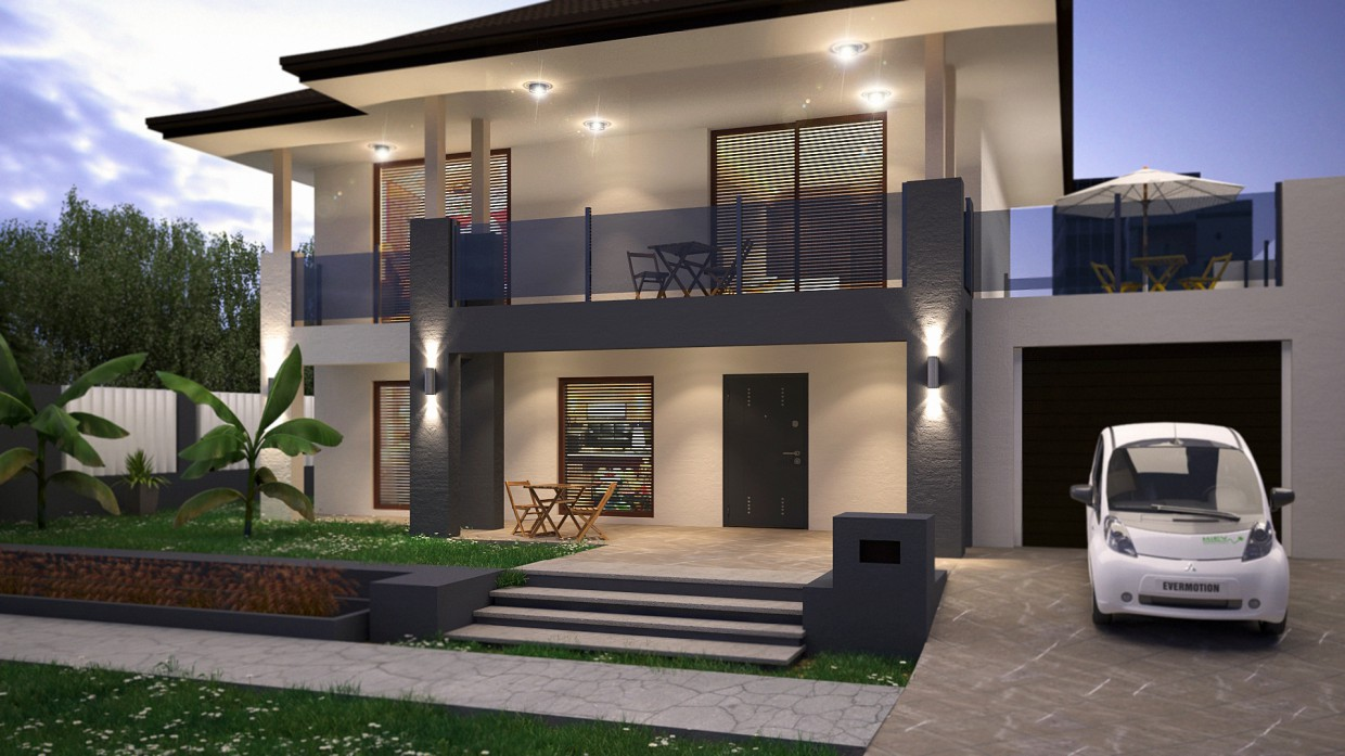 3d visualization of the project in the House 3d max, render vray 3.0 of endri