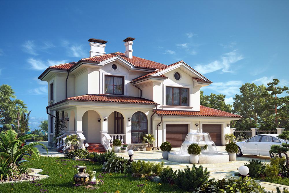 Grande maison dans Blender cycles render image