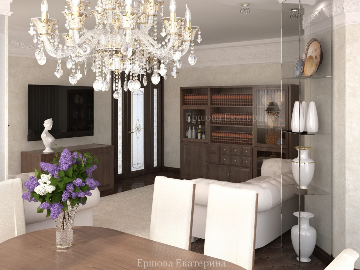 Interior Design in 3d max vray image