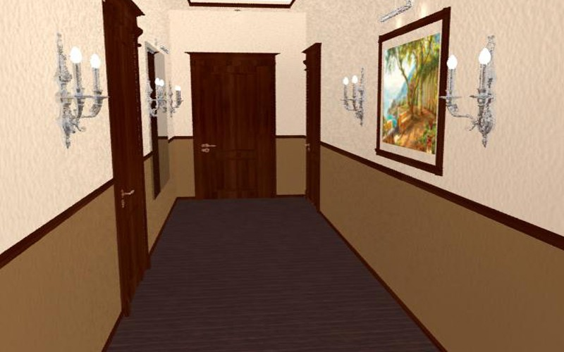 imagen de corredor en 3d max mental ray