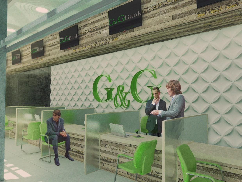 G & G банк в 3d max vray изображение