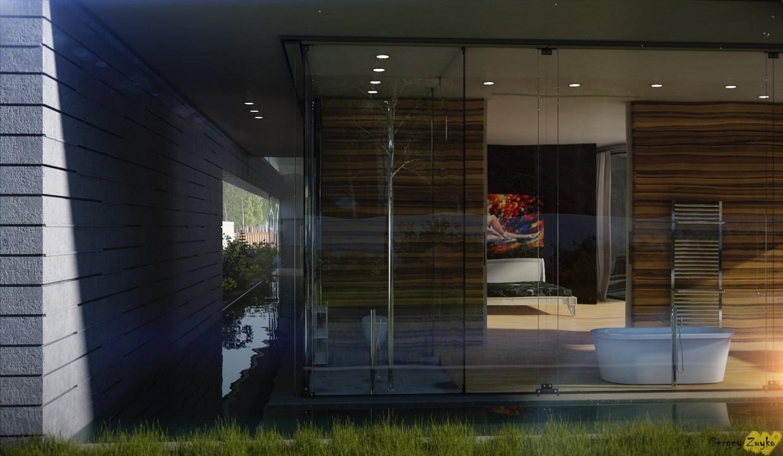 Домик в 3d max vray изображение