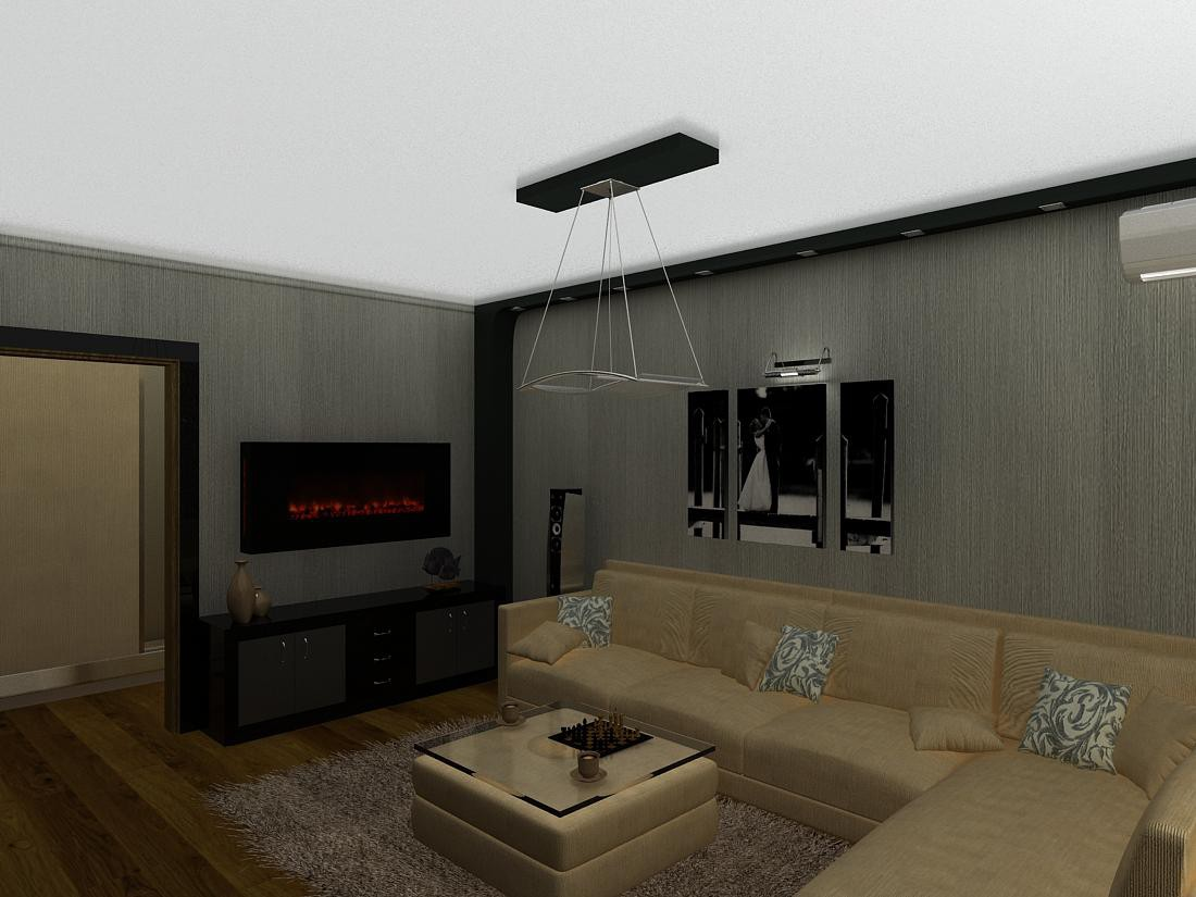 3d visualization of the project in the Drawing room 3d max, render vray of jul-eta2009