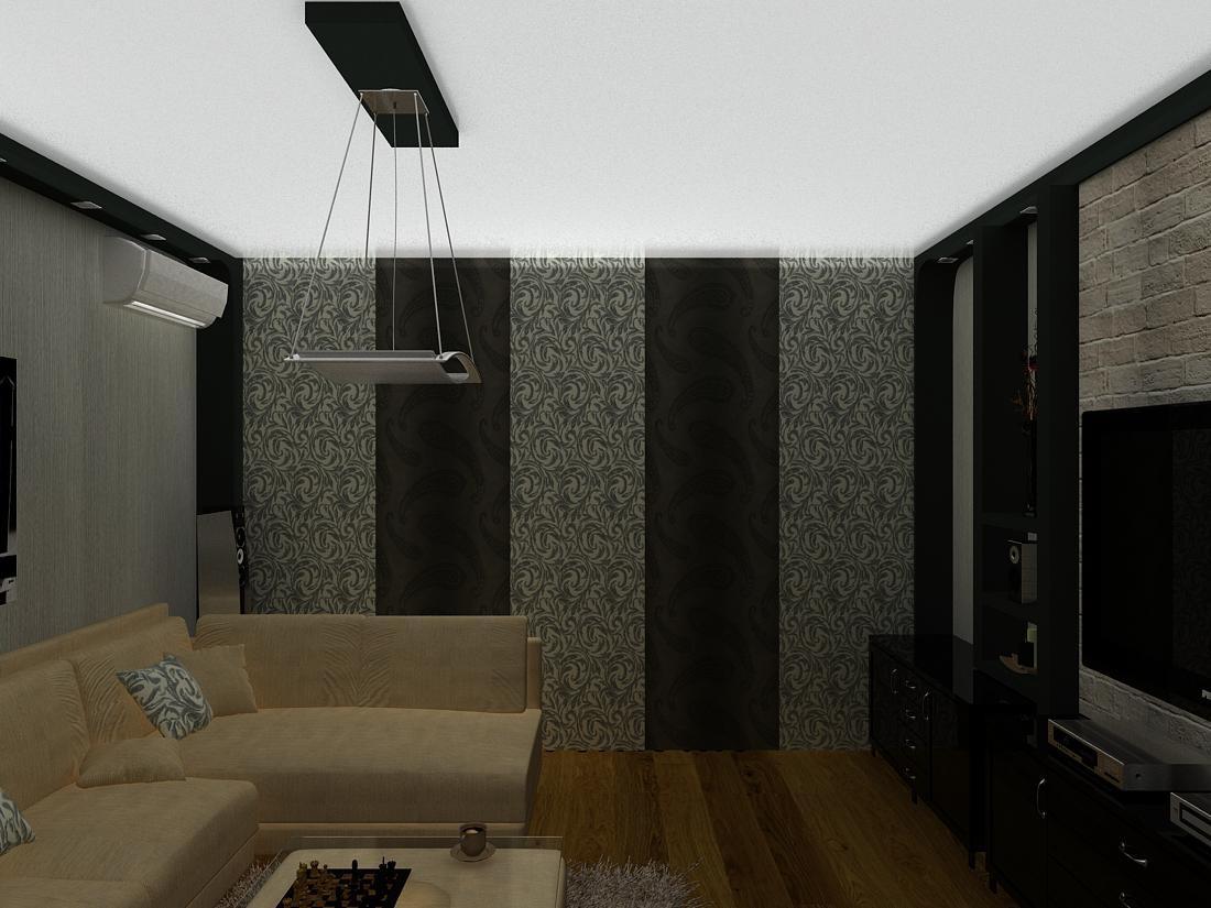 Вітальня в 3d max vray зображення