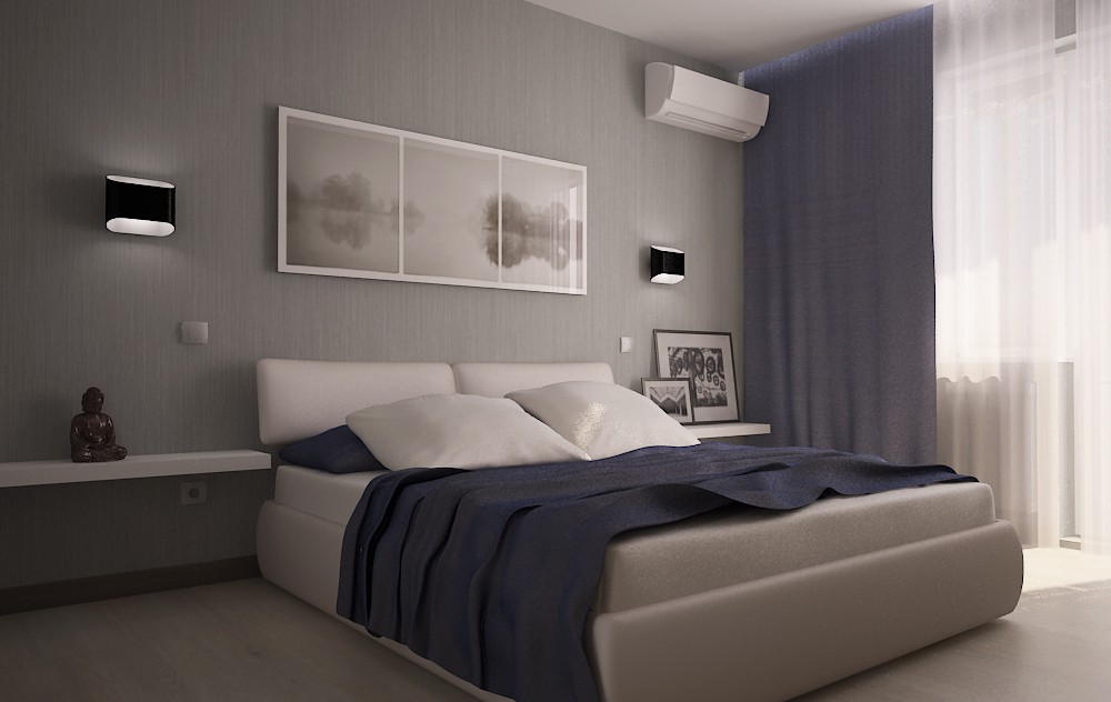 3d visualization of the project in the Sleeping in a harsh male colors 3d max, render vray 2.0 of Boogy