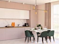Visualização do projeto cozinha-sala de estar