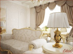 living room in the classical style)