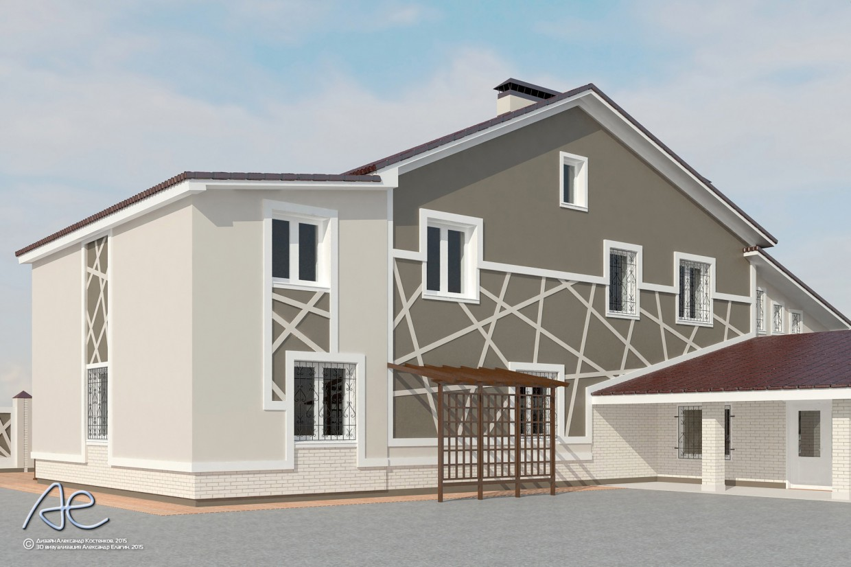 imagen de Casa rural fachadas de acabado en 3d max vray