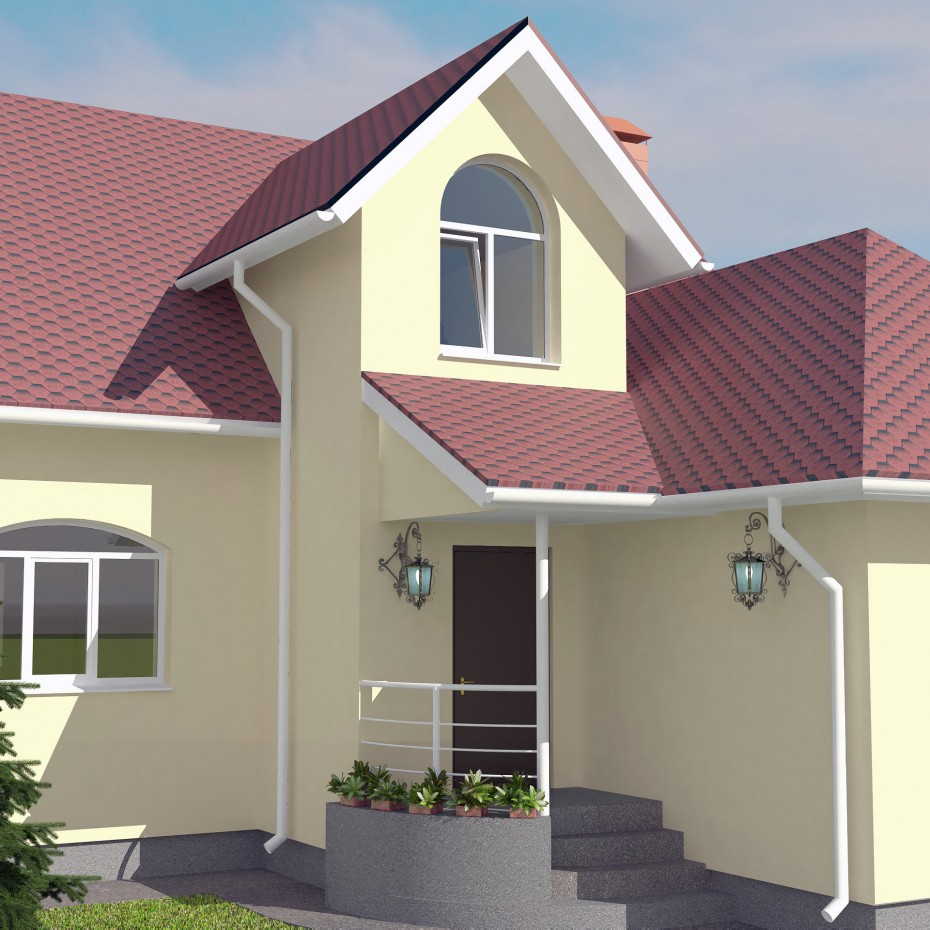Cottage  in  3d max   vray  image