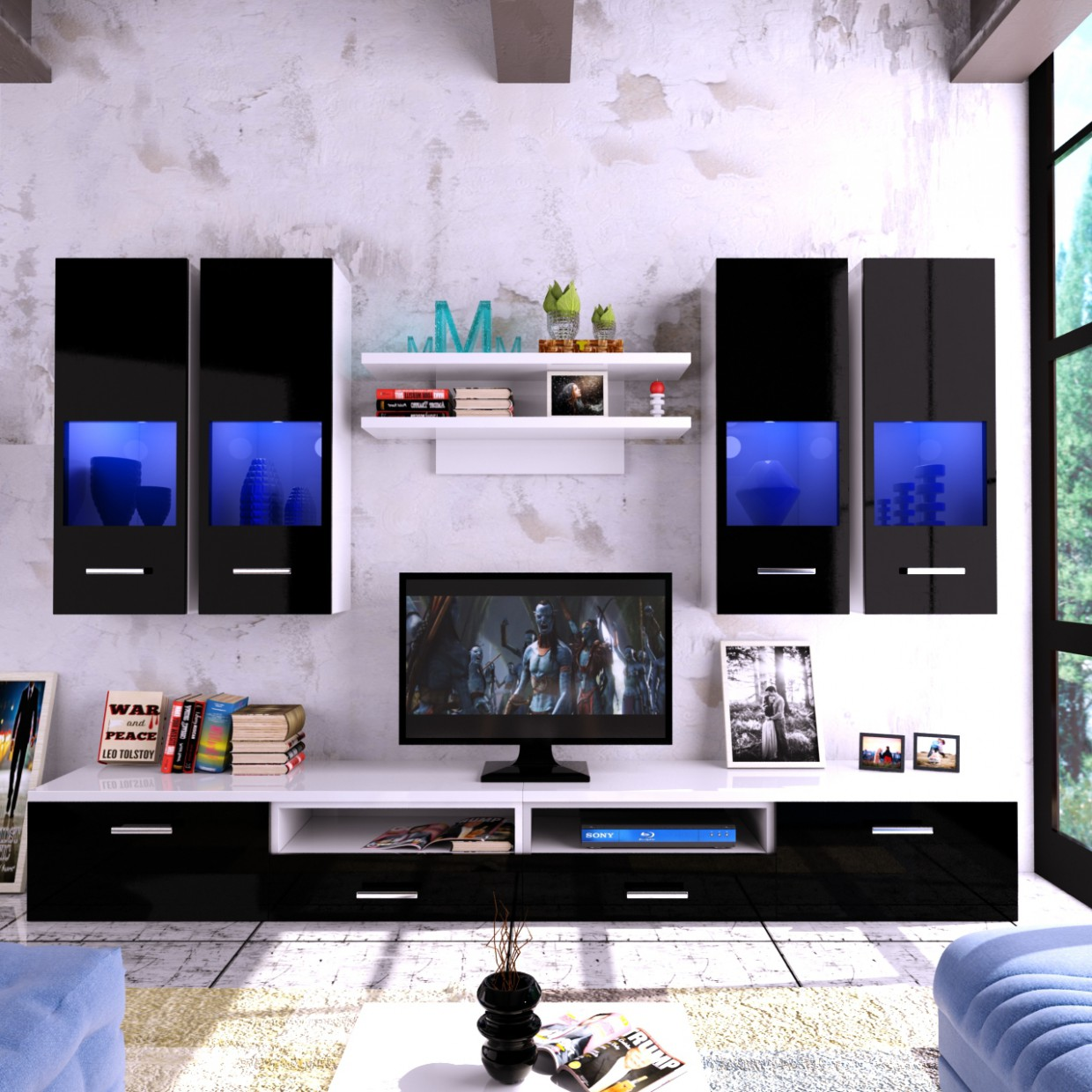 3d visualization of the project in the TV wall tv wall-modeling and visualization 3d max, render vray 3.0 of Фёдор Грамматопулос