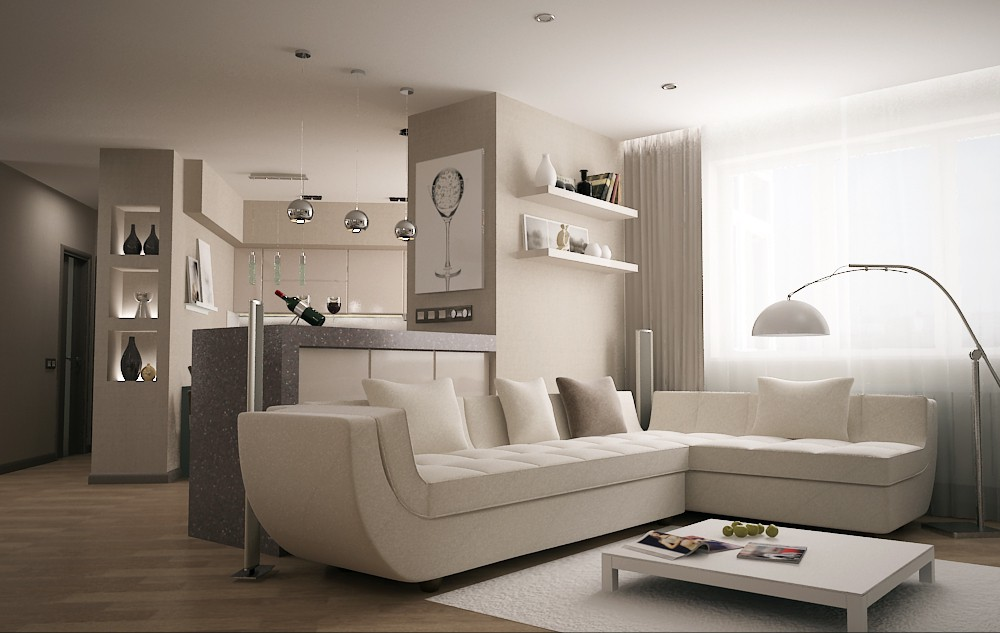 Living room in 3d max vray 2.0 image