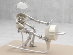Lámpara robot))