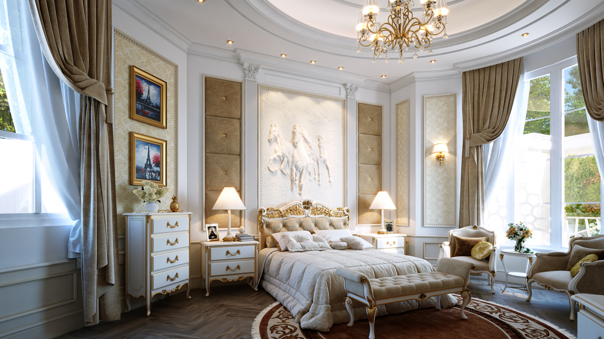 Classic Bedroom in 3d max vray 3.0 immagine