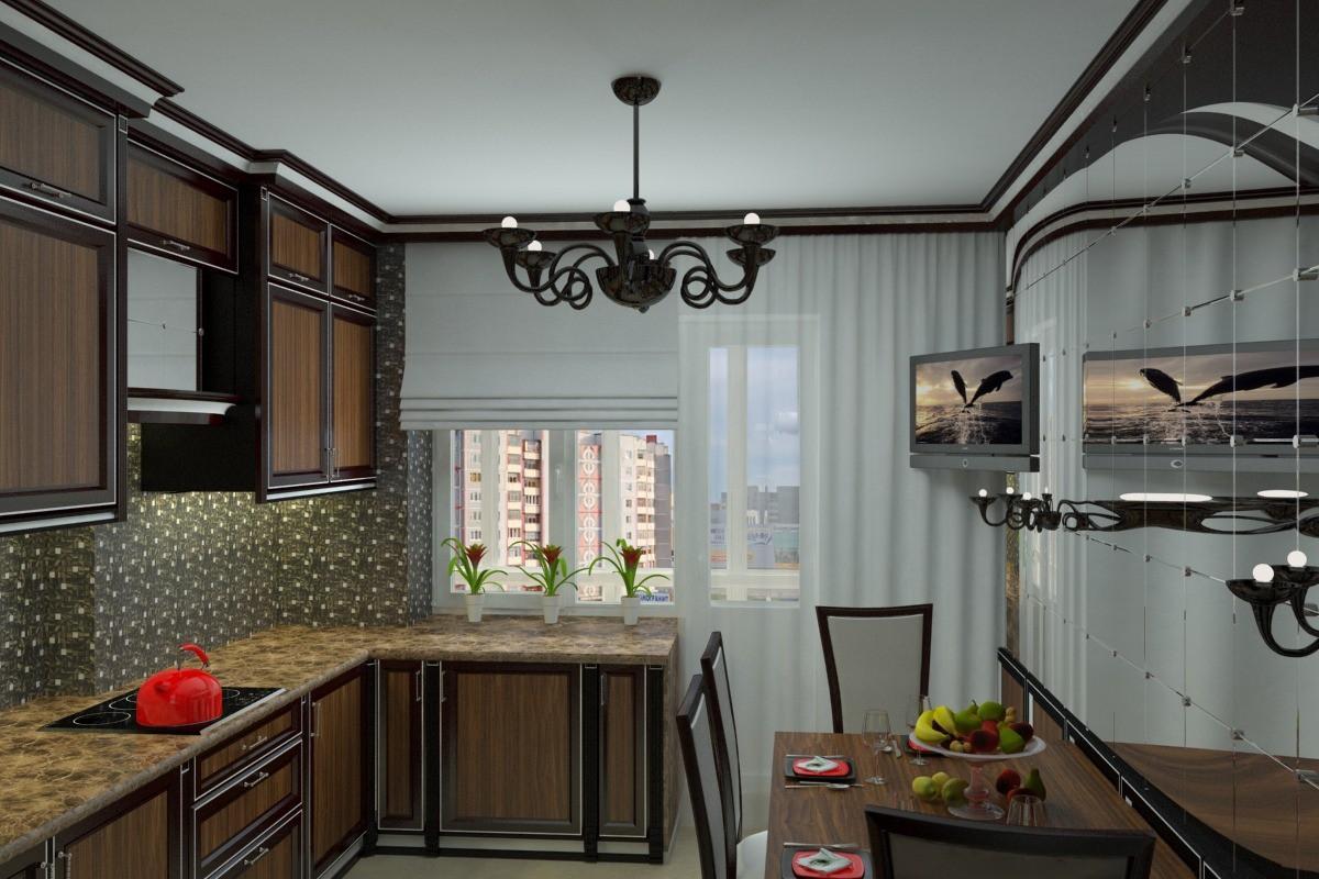 3d визуализация проекта кухня в 3d max, рендер vray от Расима Гайфутдинова