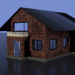 simple_house in Blender cycles render image