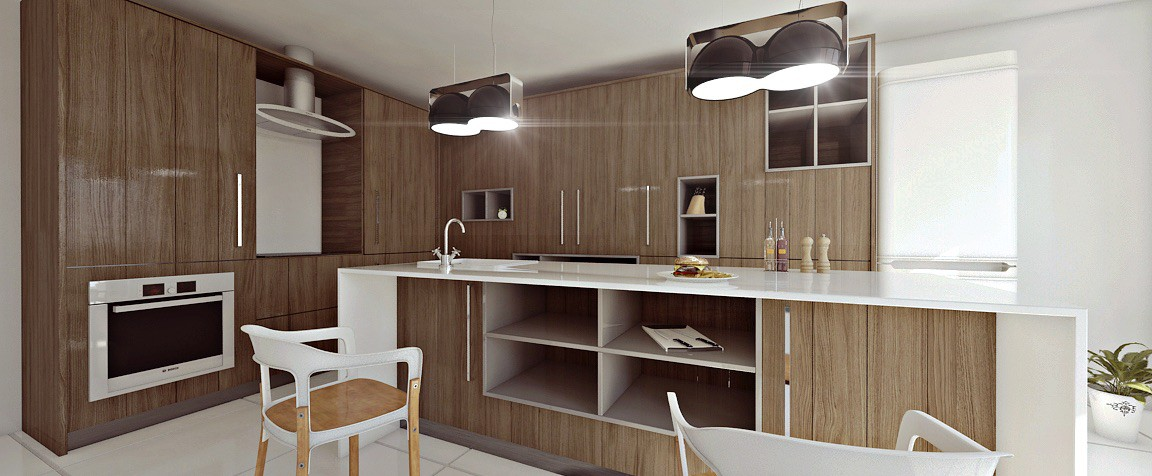 3d визуализация проекта Кухня в 3d max, рендер mental ray от bilal mezzari