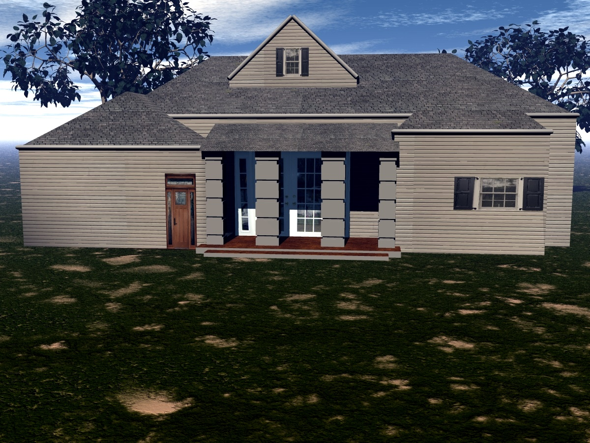Country Side House in Blender cycles render image
