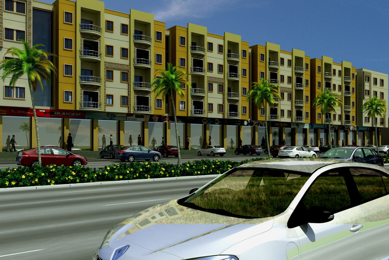 NORTH KARACHI APPARTMENT in 3d max vray image