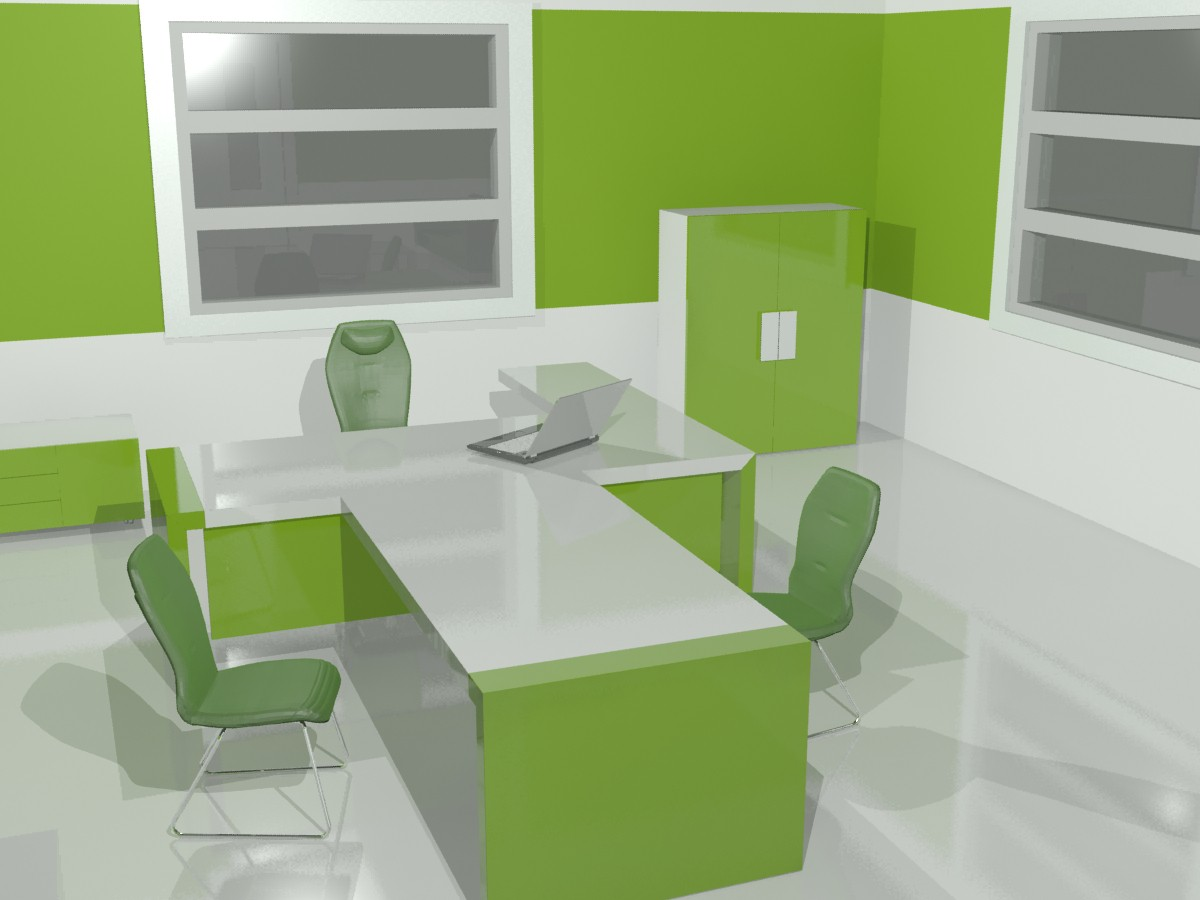 Office in 3d max vray resim