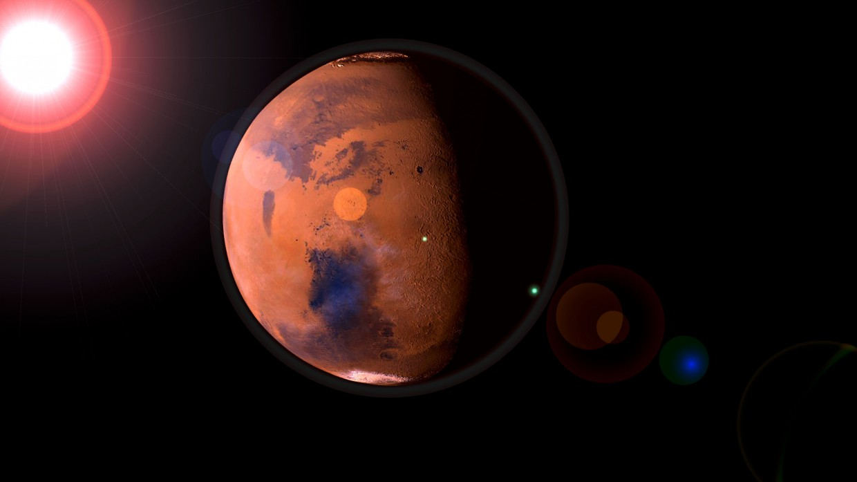 3d visualization of the project in the The planet Mars Blender, render Other of OOOPS