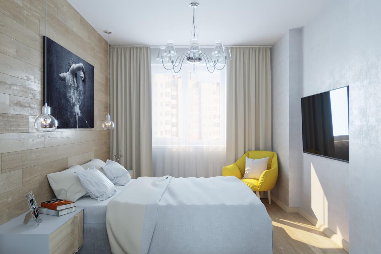 Yatak odası in 3d max corona render resim